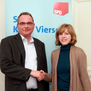 Udo Schiefner und Annalena Jahny