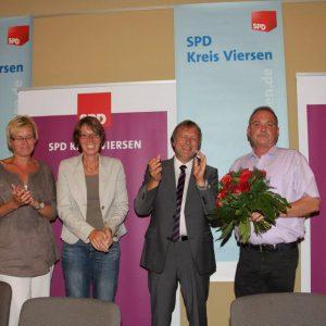 Silke Depta, Mirjam Hufschmidt, Bernd Bedronka und Udo Schiefner v.l.