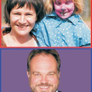 Monika Ruff-Händelkes mit Tochter und Lukas Siebenkotten