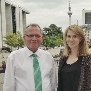 Im Bild: Udo Schiefner und Julia Leshchina