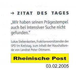 RP vom 03.02.2005